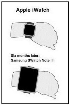 Apple iWatch Vs. Samsung SWatch Note 3