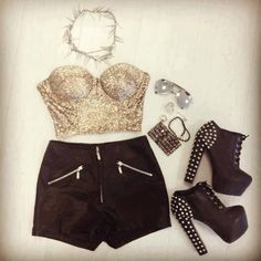 party outfit-black and gold