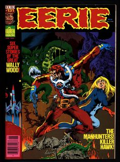 Lots of Underground Comix, Alternative titles & Classic Books, magazines & comics available like this. Most issues of Warren Magazines available.... EERIE #131 All WALLY WOOD Stories Classic Horror Comic Warren Magazine