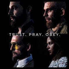 Trust. Pray. Obey. Army Ranks, Far Cry 5, 5 News, Dawn, Joseph, Crying, Pray, Tv Shows, Bible