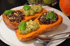 Gerösteter Butternut Kürbis mit Avocadocreme und Kräuterquinoa | EAT CLEAN
