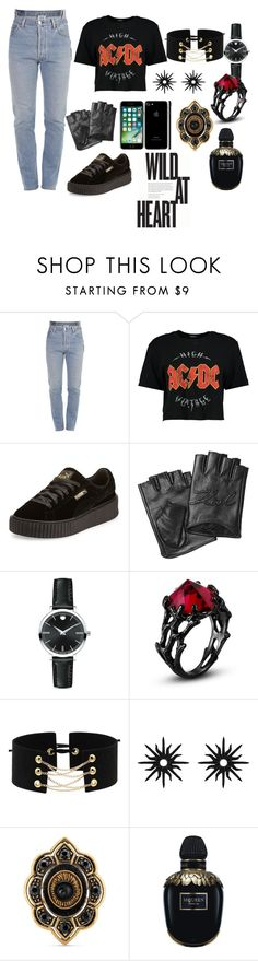 """""""wild at heart"""" by megi-queen on Polyvore featuring Vetements, Boohoo, Puma, Karl Lagerfeld, Movado, Christina Debs, Gucci and Alexander McQueen"""