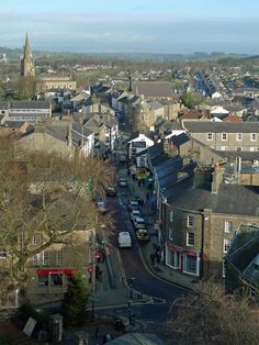 View north from Clitheroe Castle (Castle Street in the foreground). Bill Graham, Family History, Castles, Places Ive Been, Paris Skyline, Roots, England, Events, Street