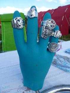 En håndfull med ringer fra by janeM. Spoon rings - a few! Facebook.com/ByJaneM/