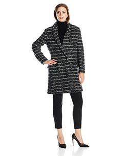 Vera Wang Women's Coco Single Breasted Striped Tweed Wool Coat, Black/White, X-Large Vera Wang http://smile.amazon.com/dp/B011M7YJ56/ref=cm_sw_r_pi_dp_rA4uwb1HMQRVY