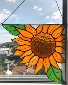 Excited to share the latest addition to my shop: Corner Panel Yellow Sunflower Suncatcher. Stain Glass Tiffany Gift Home House Decor Window Wall Hangings Decoration Boho Nature Art Ornament Glass Painting Patterns, Stained Glass Patterns Free, Stained Glass Designs, Stained Glass Ornaments, Faux Stained Glass, Stained Glass Projects, Tropical Stained Glass Panels, Stained Glass Flowers, Glass Art Pictures