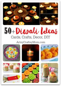 Make Diwali 2015 the grandest ever with these 50+ Diwali Ideas - Cards, Crafts, Decor, DIY for kids .Collection of amazing DIY ideas for home and office . Rangoli, Candles, diya, cards, glitter, flowers,  lights, noise free crackers & Diwali cards. We have it all .