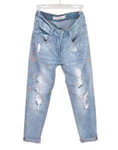 29.79$  Watch now - https://alitems.com/g/1e8d114494b01f4c715516525dc3e8/?i=5&ulp=https%3A%2F%2Fwww.aliexpress.com%2Fitem%2F2015-Summer-Women-ZA-Trf-Ethnic-Boyfriend-Style-Embroidery-Hole-Denim-Trousers-Light-Blue-Washed-Ripped%2F32362073234.html - 2015 Summer Women ZA Trf Ethnic Boyfriend Style Embroidery Hole Denim Trousers Light Blue Washed Ripped Harem Jeans Pants