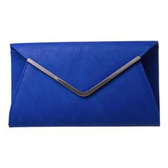 Large Envelope Clutch (€17) ❤ liked on Polyvore featuring bags, handbags, clutches, purses, accessories, sac, envelope clutch bag, blue handbags, blue envelope clutch and blue clutches