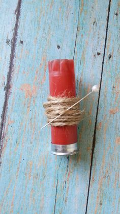 Shotgun Shell Boutonniere / Rustic by busybeemamajewelryco on Etsy