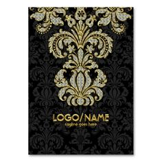 Diamonds Black and Gold Pattern Floral Damasks Business Card Templates. Make your own business card with this great design. All you need is to add your info to this template. Click the image to try it out!