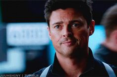Karl Urban (John Kennex - Almost Human) gif. SubCategory A: All Hail The Eyebrow of Ladybit Doom! SubCategory B: Your Face, Dear Sir, I Hate It... Never Take It From My Sight. SubCategory C: That Shoulder Holster... My Lawd. SubCategory D: Innocent Thoughts Were Never An Option.