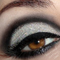 I would look like Elvira with this makeup on, but it's pretty.