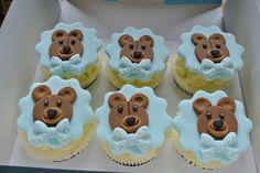Lemon and Cream Blue Teddy Bears Cupcakes Blue Teddy Bear, Teddy Bears, Cup Cakes, Cupcake Cakes, Teddy Bear Cupcakes, Fondant, Childrens Meals, Cute Bears, Food Presentation