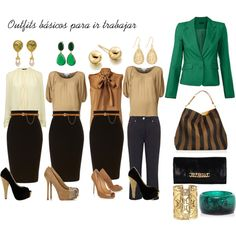 """""""Outfits básicos para ir a trabajar"""" by guisella-infantes on Polyvore"""
