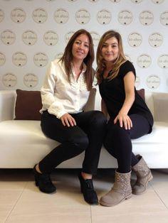 Con Loli Alfaro, en su precioso centro de Palma de Mallorca