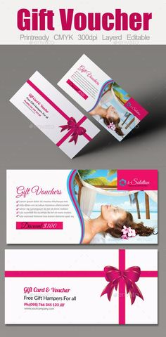 Spa Gift Voucher Template #template #cards #print #invites