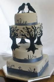 Black and white elegant unique tiered modern wedding cake designs and ideas - wedding and birthday cake pictures