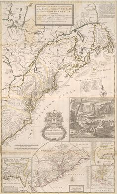 North America, 1715: A new and exact map of the dominions of the King of Great Britain on ye continent of North America: containing Newfoundland, New Scotland, New England, New York, New Jersey, Pensilvania, Maryland, Virginia and Carolina according to new - Imgur