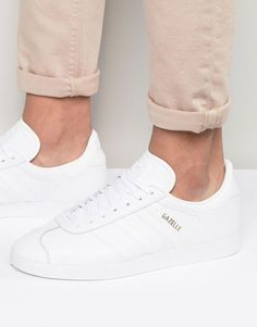 adidas+Originals+Gazelle+Trainers+In+White+BB5498