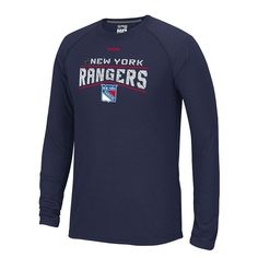 Men's Reebok New York Rangers TNT Freeze Reflect PlayDry Performance Tee, Blue