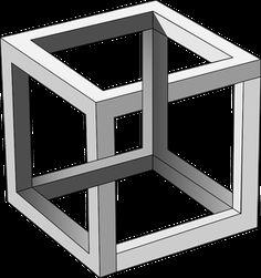 Clipart - impossible, cube, MC, Escher, plus Source by Mc Escher Art, Escher Kunst, Math Art, 3d Laser, Illusion Art, Art Plastique, Surreal Art, Geometric Art, Op Art