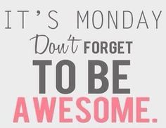 Happy #Monday!