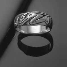 Heron and Fish Ring Large Sterling Silver (by mckenziejewelers on Etsy, $100).
