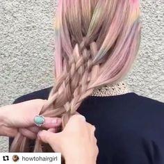 #뷰리포터 #벼머리 #디스코머리 도 간신히 땋는데 이건 진정 금손 인증!!  레인보우 빛이 도는 핑크 옴브레 헤어를 이렇게 통으로 땋아주니 드레스업 헤어가 뚝딱 완성되네요! -editor LHB #ombre #hair #braids #hairstyle #instylekorea  via INSTYLE KOREA MAGAZINE OFFICIAL INSTAGRAM - Fashion Campaigns  Haute Couture  Advertising  Editorial Photography  Magazine Cover Designs  Supermodels  Runway Models