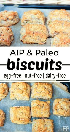 Aip Biscuits And Paleo Egg-Free Nut-Free Dairy-Free You'll Love Having Flaky, Tender Biscuits Again Delicious Alongside Breakfast, Lunch Or Dinner Autoimmun Paleo, Paleo Menu, Paleo Cookbook, Paleo Dessert, Paleo Bread, Paleo Flour, Paleo Dinner, Dairy Free Recipes, Paleo Recipes