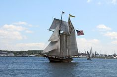 The Pride of Baltimore II, a historically-evocative reproduction of a War of 1812-era topsail schooner Privateer.  She is Maryland's working symbol of the great natural resources and spectacular beauty of the Chesapeake Bay region, and a reminder of America's rich maritime heritage