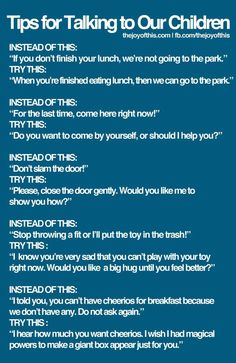 Positive alternatives to challenging situations :)