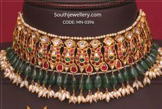 22 Carat gold antique finish traditional gold choker designs by Mangatrai Neeraj jewellers. Latest antique choker designs weight and price Royal Jewelry, Ruby Jewelry, Indian Jewelry, Gold Choker, Diamond Choker, Diamond Bangle, Gold Jewelry Simple, Gold Earrings Designs, Wedding Jewelry