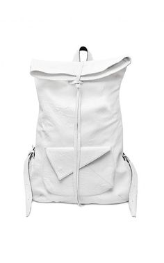 Void Shoes white washed leather backpack from unconventional