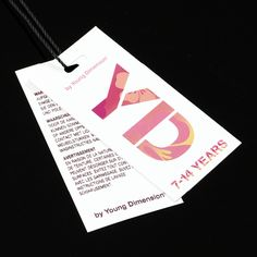 Primark YD Children Clothing Identity Spray Paint Logo Label Tag