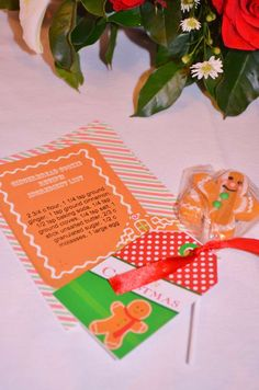 Fun favors at a gingerbread candyland party!  See more party planning ideas at CatchMyParty.com!