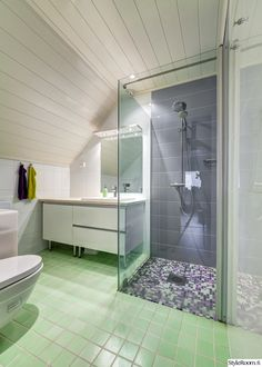 Kylpyhuone Kaakeli : Kylpyhuone allas katto pesutilat vihreä sininen