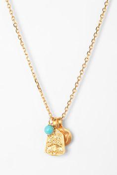 Satya Lotus Charm Necklace