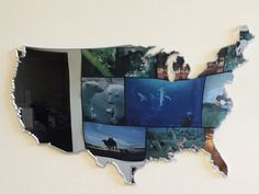 Gli Stati Uniti visti da Laura Canali, la geografia in camera. Specchio su misura. Plexiglas argento specchiato lavorato al laser.