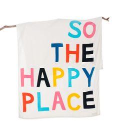 Gorman Online :: Rachel Castle HAPPY PLACE TOWEL - living - Homeware