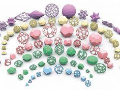 Geometrías de nanopartículas, diseñadas por DAEDALUS. | Matemolivares