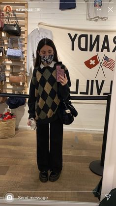 Indie Outfits, Cute Casual Outfits, Retro Outfits, Vintage Outfits, Warm Outfits, Teen Fashion Outfits, Grunge Outfits, Aesthetic Fashion, Look Fashion