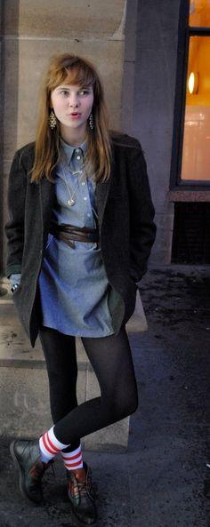 Disfraz De Moda pendientes Tachas dos Gota Azul Marino Art Deco Barroco Vintage C3