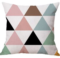 Colorful Geometric Design Linen Cotton Office Indoor Use Sofa Spring Cushion