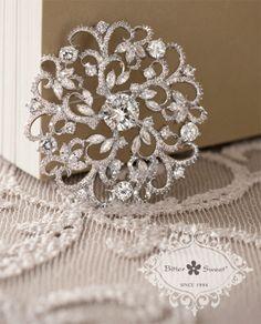 Bitter Sweet Jewellery Bridal Collection, brooch. #elegant #bridal #leaf #floral #delicate #wedding #gown