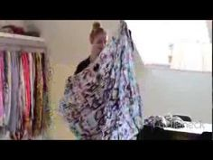 How to tie a square scarf | Learn to style wear a silk scarf around your...