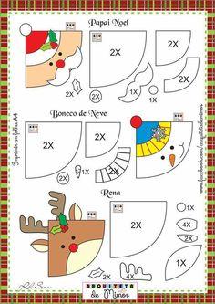Felt corner bookmarks for Christmas Felt Christmas Ornaments, Christmas Crafts, Christmas Decorations, Christmas Makes, Noel Christmas, Christmas Templates, Christmas Printables, Diy And Crafts, Crafts For Kids