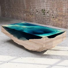 Abyss Table, A Table That Resembles a Geological Cross Section of the Ocean