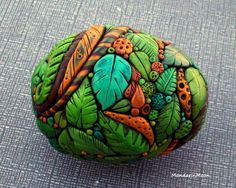 Chris Kapono/Mandarin Moon. Not a painted stone but stunning Polymer Clay work.