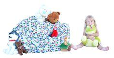 This Cotton-Canvas Bean Bag holds +100 Plush Toys